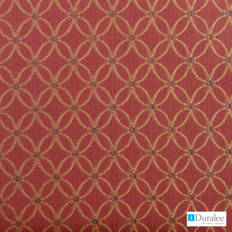 Duralee - 32687-38 - Russett  | Curtain & Upholstery fabric - Red, Geometric, Synthetic, Diamond - Harlequin, Dry Clean, Lattice, Trellis, Standard Width