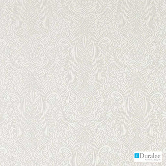 Duralee - 32715-88 - Champagne  | Curtain & Upholstery fabric - White, Fibre Blends, Paisley, Dry Clean, White, Standard Width
