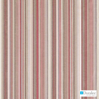 Duralee - 32741-44 - Old Rose  | Curtain & Upholstery fabric - Burgundy, Fibre Blends, Stripe, Dry Clean, Standard Width