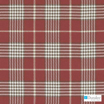 Duralee - 32797-9 - Red  | Curtain & Upholstery fabric - Brown, Dry Clean, Natural, Plaid, Twill, Natural Fibre, Standard Width