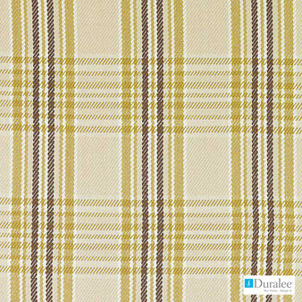 Duralee - 32799-60 - Natural/Gold  | Curtain & Upholstery fabric - Gold, Yellow, Dry Clean, Natural, Plaid, Twill, Natural Fibre, Standard Width
