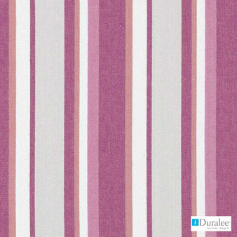 Duralee - 32804-224 - Berry  | Curtain & Upholstery fabric - Natural Fibre, Pink, Purple, Stripe, Dry Clean, Natural, Standard Width