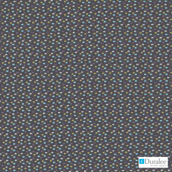 Duralee - 32827-105 - Coal    Curtain & Upholstery fabric - Blue, Fire Retardant, Geometric, Synthetic, Dots, Spots, Dry Clean, Standard Width