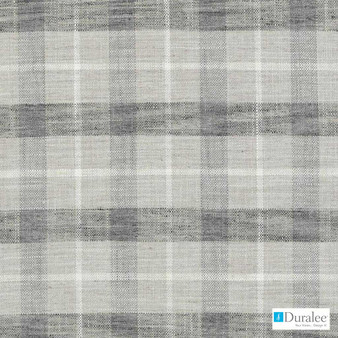 Duralee - 32831-526 - Metal    Curtain & Upholstery fabric - Grey, Check, Synthetic, Dry Clean, Standard Width