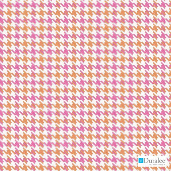 Duralee - 32845-97 - Shocking Pink  | Curtain & Upholstery fabric - Check, Natural Fibre, Pink, Purple, Dry Clean, Houndstooth, Natural, Twill, Standard Width