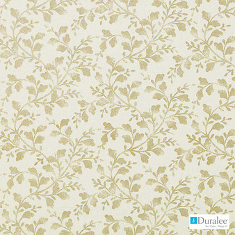 Duralee - 42442-62 - Antique Gold  | Curtain & Upholstery fabric - Beige, Gold,  Yellow, Silver, Floral, Garden, Natural Fibre, Tan, Taupe, Dry Clean, Natural, Print