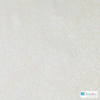 Duralee - 51344-625 - Pearl  | Curtain & Curtain lining fabric - Fire Retardant, Wide-Width, Silver, Dry Clean, Embroidery, Whites, Scroll