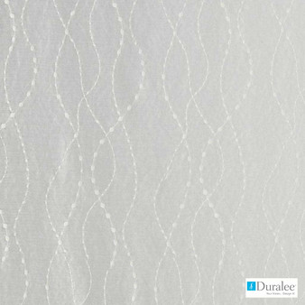Duralee - 51354-509 - Almond  | Curtain & Curtain lining fabric - Fire Retardant, Grey, Silver, White, Stripe, Synthetic