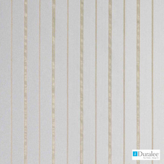 Duralee - 51355-509 - Almond  | Curtain & Curtain lining fabric - Beige, Fire Retardant, Silver, White, Stripe, Synthetic
