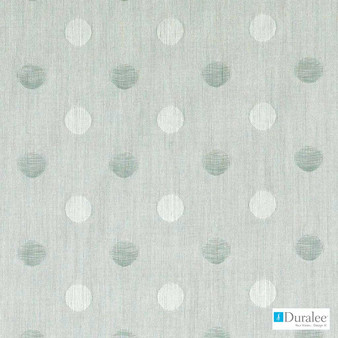 Duralee - 51391-19 - Aqua    Curtain & Curtain lining fabric - Stain Repellent, Blue, Silver, White, Outdoor Use, White