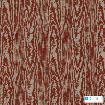 Duralee - 71072-219 - Cinnamon  | Upholstery Fabric - Brown, Burgundy, Fire Retardant, Red, Terracotta, Fibre Blends, Moire