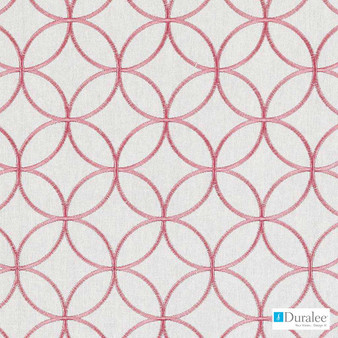 Duralee - 73024-198 - Petal  | Curtain & Upholstery fabric - Fire Retardant, Linen/Linen Look, Pink, Purple, Red, Diamond, Harlequin, Silver, Circles