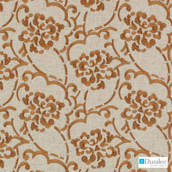 Duralee - 73034-33 - Persimmon  | Curtain & Upholstery fabric - Burgundy, Fire Retardant, Silver, Terracotta, Dry Clean