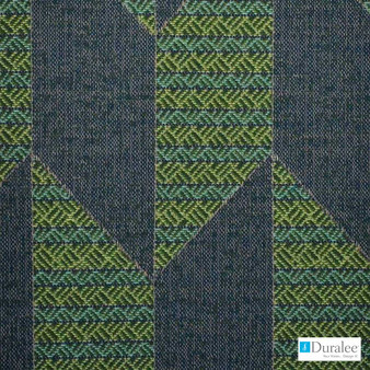 Duralee - 90884-532 - Kapa - Regatta  | Upholstery Fabric - Blue, Geometric, Synthetic, Turquoise, Teal, Abstract, Backing