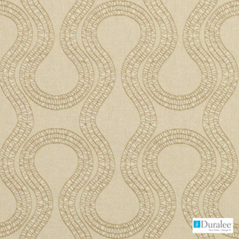 Duralee - 90924-494 - Sesame  | Upholstery Fabric - Beige, Synthetic, Tan, Taupe, Abstract, Dry Clean, Standard Width