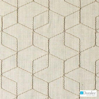 Duralee - Da61296-494 - Sesame  | Curtain & Upholstery fabric - Beige, Fire Retardant, Fibre Blends, Geometric, Dry Clean
