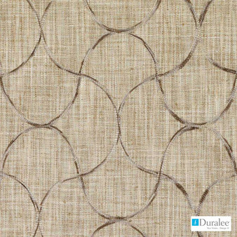 Duralee - Da61614-519 - Rattan  | Curtain Fabric - Beige, Brown, Midcentury, Synthetic, Dry Clean, Embroidery