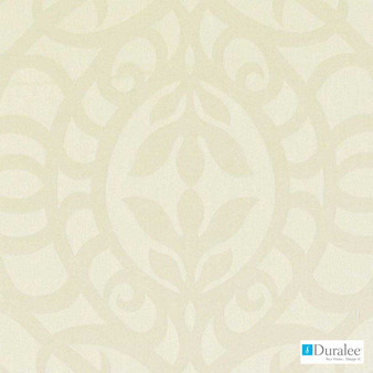 Duralee - Di61329-435 - Stone  | Curtain & Upholstery fabric - Beige, Mediterranean, Traditional, Dry Clean, Damask, Natural, Medallion, Natural Fibre