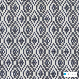 Duralee - Di61397-206 - Navy    Curtain & Upholstery fabric - Blue, Diamond, Harlequin, Dry Clean, Geometric, Small Scale, Fibre Blend, Standard Width