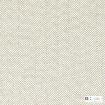 Duralee - Di61402-118 - Linen  | Curtain & Upholstery fabric - Beige, White, Synthetic, Dry Clean, Herringbone, White