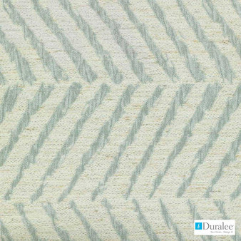 Duralee - Di61631-693 - Natural/Aqua    Curtain & Upholstery fabric - Linen and Linen Look, Synthetic, Abstract, Dry Clean