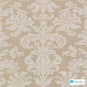 Duralee - Di61684-62 - Antique Gold  | Curtain & Upholstery fabric - Beige, Damask, Fibre Blends, Linen and Linen Look