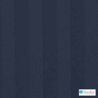 Duralee - Dj61334-206 - Navy  | Curtain & Upholstery fabric - Blue, Stripe, Dry Clean, Natural, Natural Fibre, Standard Width