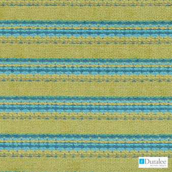 Duralee - Dn15824-619 - Seaglass  | Upholstery Fabric - Fire Retardant, Blue, Green, Turquoise, Teal, Stripe, Dry Clean, Stain Repellent, Backing