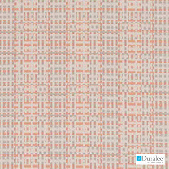 Duralee - Dn16329-31 - Coral  | Upholstery Fabric - Check, Geometric, Midcentury, Synthetic, Standard Width