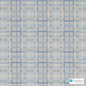 Duralee - Dn16329-157 - Chambray  | Upholstery Fabric - Check, Geometric, Midcentury, Synthetic, Standard Width