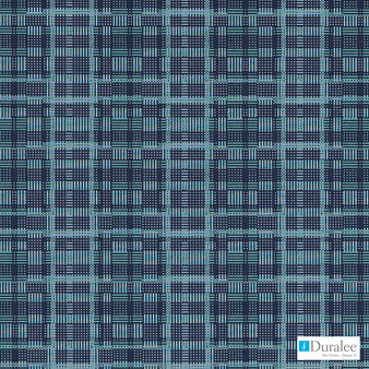 Duralee - Dn16329-563 - Lapis  | Upholstery Fabric - Check, Geometric, Midcentury, Synthetic, Turquoise, Teal