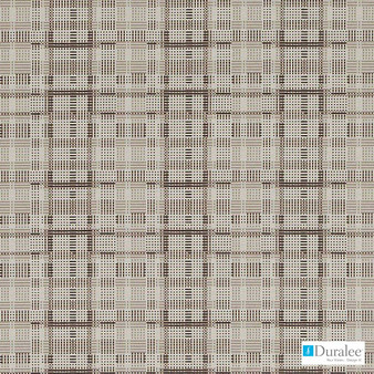 Duralee - Dn16329-606 - Linen/Charc  | Upholstery Fabric - Beige, Brown, Black - Charcoal, Check, Geometric, Midcentury