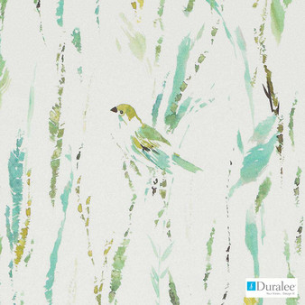 Duralee - Dp42636-72 - Blue/Green  | Upholstery Fabric - Floral, Garden, Natural Fibre, Tropical, Turquoise, Teal, Print