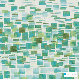 Duralee - Dp42641-72 - Blue/Green  | Upholstery Fabric - Geometric, Midcentury, Natural Fibre, Turquoise, Teal, Abstract