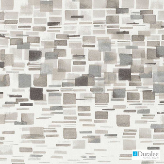 Duralee - Dp42641-435 - Stone  | Upholstery Fabric - Beige, Grey, Mid Century Modern, Silver, Dry Clean, Geometric, Abstract, Natural, Print