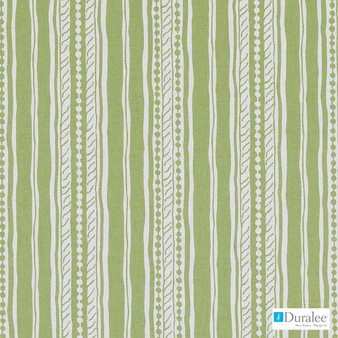 Duralee - Dp61448-212 - Apple Green    Curtain & Upholstery fabric - Stain Repellent, Natural Fibre, Stripe, Dry Clean