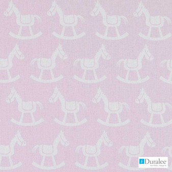 Duralee - Dp61457-4 - Pink  | Curtain & Upholstery fabric - Kids, Midcentury, Natural Fibre, Pink, Purple, Animals, Print