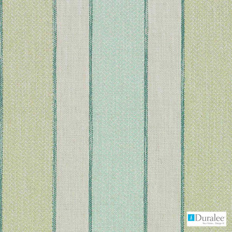 Duralee - Du16065-246 - Aegean  | Upholstery Fabric - Fire Retardant, Fibre Blends, Linen and Linen Look, Stripe, Dry Clean