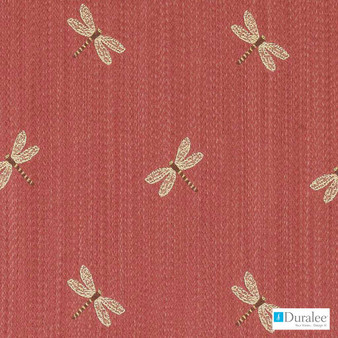 Duralee - Du16083-224 - Berry  | Upholstery Fabric - Burgundy, Fire Retardant, Red, Terracotta, Midcentury, Synthetic