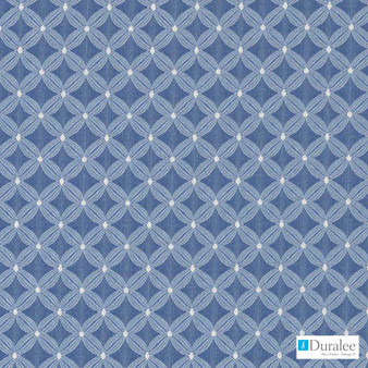 Duralee - Du16103-157 - Chambray  | Upholstery Fabric - Fire Retardant, Blue, Diamond, Harlequin, Dry Clean, Geometric, Dots, Spots, Small Scale