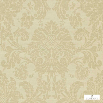 Zoffany Crivelli ZCDW02012  | Wallpaper, Wallcovering - Beige, Damask, Traditional, Commercial Use, Domestic Use