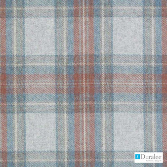 Duralee - Du16199-73 - Red/Blue    Upholstery Fabric - Fire Retardant, Blue, Red, Dry Clean, Check, Plaid, Fibre Blend, Standard Width