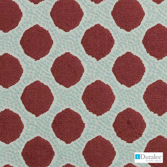 Duralee - Dv15967-224 - Berry  | Upholstery Fabric - Burgundy, Fire Retardant, Terracotta, Geometric, Synthetic, Abstract