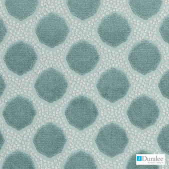 Duralee - Dv15967-619 - Seaglass  | Upholstery Fabric - Fire Retardant, Geometric, Synthetic, Turquoise, Teal, Abstract