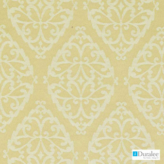Duralee - Dw15934-205 - Jonquil | Upholstery Fabric - Gold, Yellow, Dry Clean, Scroll, Medallion, Fibre Blend, Standard Width