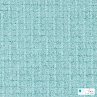 Duralee - Dw16013-246 - Aegean | Upholstery Fabric - Fire Retardant, Turquoise, Teal, Dry Clean, Check, Plaid, Backing, Standard Width