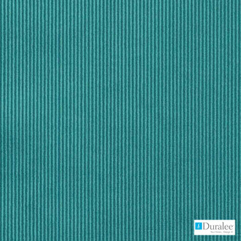 Duralee - Dw16161-23 - Peacock | Curtain & Upholstery fabric - Turquoise, Teal, Stripe, Dry Clean, Corduroy, Tone on tone, Standard Width
