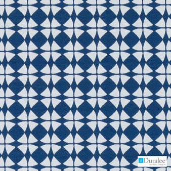 Duralee - Dw16173-563 - Lapis | Upholstery Fabric - Blue, Mid Century Modern, Dry Clean, Geometric, Circles, Dots, Spots, Fibre Blend, Standard Width