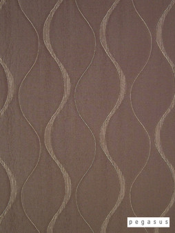 Pegasus Chicane - Pebble  | Curtain Fabric - Brown, Eclectic, Fibre Blends, Geometric, Midcentury, Ogee, Transitional, Domestic Use, Dry Clean, Standard Width