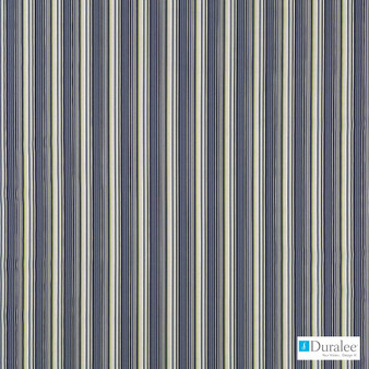 Duralee - Dw16300-71 - Blue/Avocado  | Upholstery Fabric - Fire Retardant, Blue, Stripe, Traditional, Outdoor Use, Standard Width